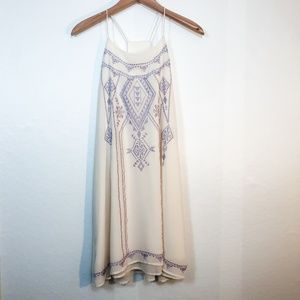 Altar'd State Embroidered Shift Dress Size Large